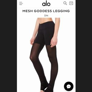 Alo goddess mesh leggings